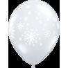 """11"""" Contemporary Snowflakes 25Unid"""