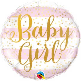 """18"""" Baby Girl Pink Stripes (minimo 3 unid)"""