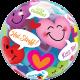 """22"""" Conversation Smiley Hearts (Minimo 3 Unid)"""