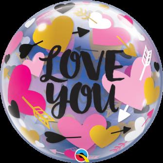"""22"""" Love You Hearts& Arrows (Minimo 3 Unid)"""