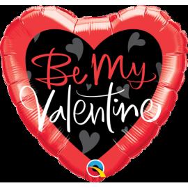 "18"" Be My Valentine Script (Minimo 3 unid)"