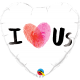 "18"" I (Thumbprint Heart) Us (Minimo 3 Unid)"