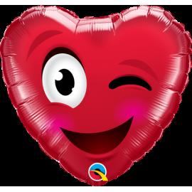 "18"" Smiley Wink Heart (Minimo 3 unid)"