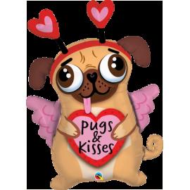 """36"""" Pugs & Kisses (Minimo 3 Unid)"""
