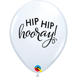 "11"" Simply Hip Hip Hooray (25ct )"