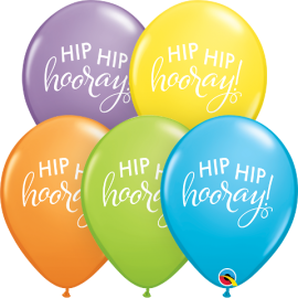 "11"" Simply Hip Hip Hooray (25ct)"
