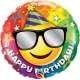 "9"" Birthday Smiley (Minimo 5 unid) Air-Fill (Termosellado aire)"