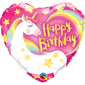 "9"" Birthday Magical Unicorn (Minimo 5 unid) Air-Fill (Termosellado aire)"