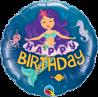 "9"" Birthday Mermaid (Minimo 5 unid) Air-Fill (Termosellado aire)"