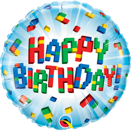 "9"" Birthday Exploding (Minimo 5 unid) Air-Fill (Termosellado aire)"
