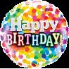 """9"""" Birthday Rainbow Confetti (Minimo 5 unid) Air-Fill (Termosellado aire)"""
