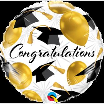 "18"" Congratulations Gold balloons (minimo 3 unid)"