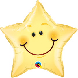 "20"" Smiley Face Star (minimo 3 unid)"