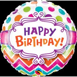 "18"" Birthday Chevron (minimo 3 unid)"