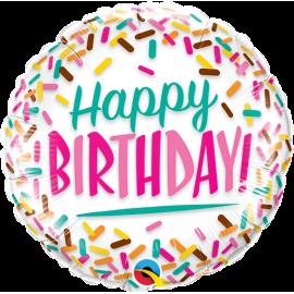 "18"" Birthday Spinkles (3 unid )"
