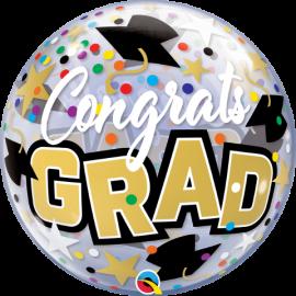 "22"" Congrats Grad Stars & Dots (minimo 3 unid)"