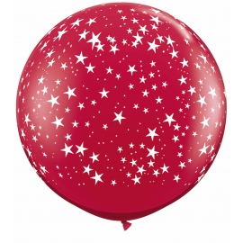 3Ft Stars -A Round (2ct) Ruby Red