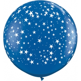 3Ft Stars -A Round (2ct) Sapphire Blue
