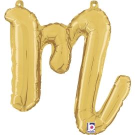 Letra Script M ( Disponible en oro y plata)