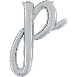 Letra Script P ( Disponible en oro y plata)