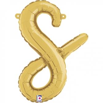 Letra Script S ( Disponible en oro y plata)