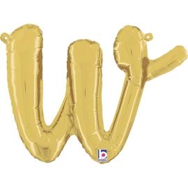 Letra Script W ( Disponible en oro y plata)