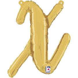 Letra Script X ( Disponible en oro y plata)
