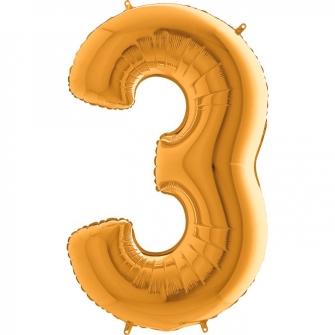 """40"""" Numero 3 (1ct) Gold"""