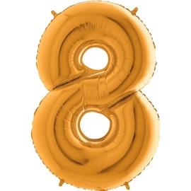 """40"""" Numero 8 (1ct) Gold"""