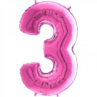 "26"" Numero 3 Fuxia (Helio y Aire) 66cm"