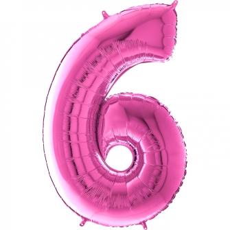 "26"" Numero 6 Fuxia (Helio y Aire) 66cm"