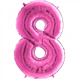 "26"" Numero 8 Fuxia (Helio y Aire) 66cm"
