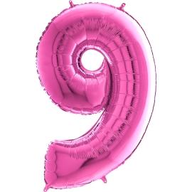 "26"" Numero 9 Fuxia (Helio y Aire) 66cm"