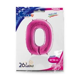 "26"" Numero 0 Fuxia (Helio y Aire) 66cm"