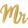 "39"" Mr Script balloon Gold (1 unid)"