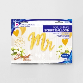 "39"" Mr Script balloon Gold (1 unid)"