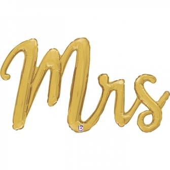 "39"" Mrs Script balloon Gold (1 unid)"