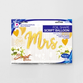 "39"" Mrs Script balloon Gold (1 unid)"