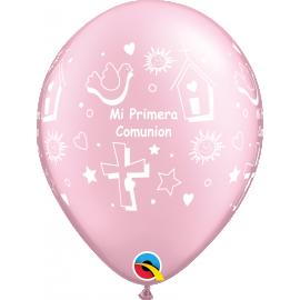 """11"""" Mi Primera Comunión Prl Pink (50ct)"""