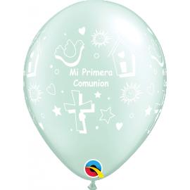 "11"" Mi Primera Comunión Prl Mint Green (50ct)"