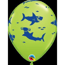 "11"" Fun Sharks! (25 unid)"