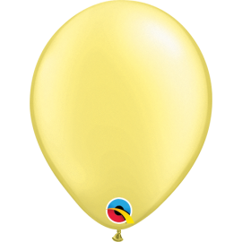 "5"" Pearl Lemon Chifflon 100 Unid (Pearl Amarillo pastel perlado)"