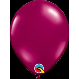 "9"" Sparkling Burgundy 100 Unid ( Rojo Joya Transparente)"