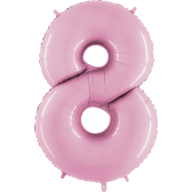 "Numero 8 Tono Pastel Rosa (01ct) 40"" (101cm)"