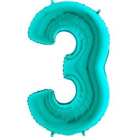 """26"""" Numero 3 Tiffany (Helio y Aire) 66cm"""