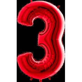 "26"" Numero 3 Red (Helio y Aire) 66cm"