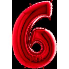 "26"" Numero 6 Red (Helio y Aire) 66cm"