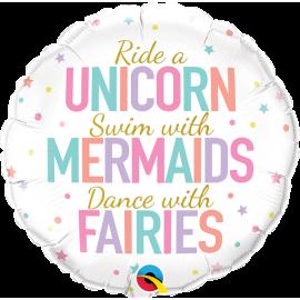 "18"" Unicorn / Mermaids/ Fairies (minimo 3 unid)"