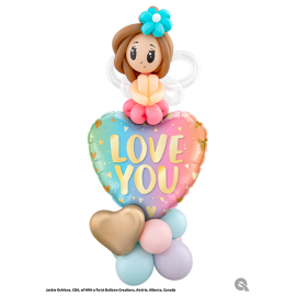 "18"" Love You pastel ombré & hearts (minimo 3 unid)"