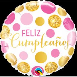 """18"""" Feliz Cumpleaños puntos (minimo 3 unid )"""